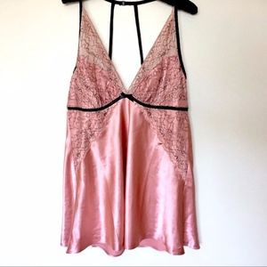 Cacique Silky Satin & Lace Chemise Nightie 14 Plus